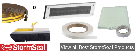 Our StormSeal range of draught excluders features more than 50 products, including door brushes, letter box brushes, PVC foam draught excluders and more.