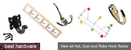 An extensive range of almost 70 hat, coat and robe hooks. From simple, single hooks to fittings with 5 retractable hooks and everything in between, all in a variety of styles & finishes.