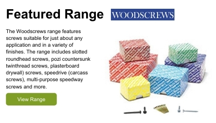 The Woodscrews range features woodscrews suitable for just about any application and in a variety of finishes.